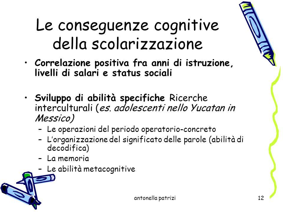 Le conseguenze cognitive della scolarizzazione