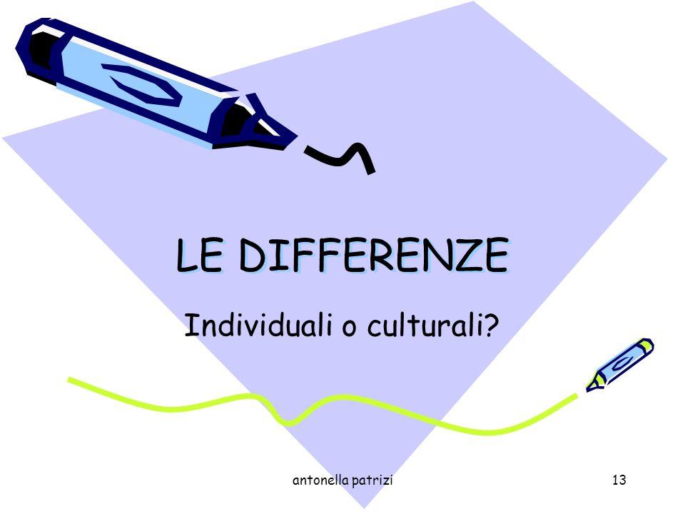 Individuali o culturali