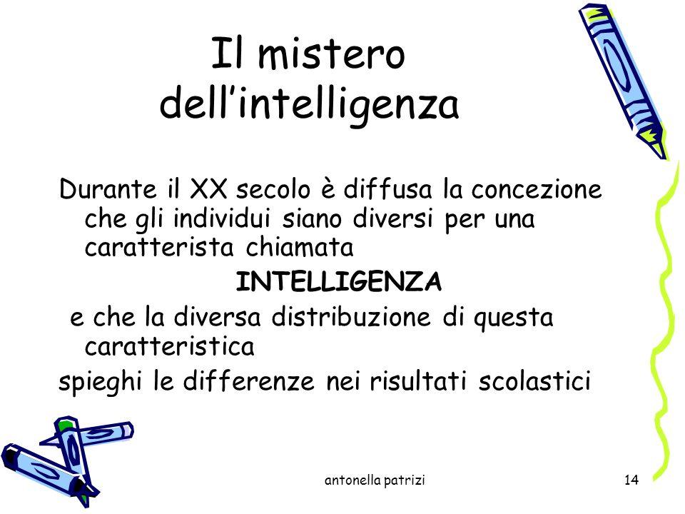 Il mistero dell'intelligenza