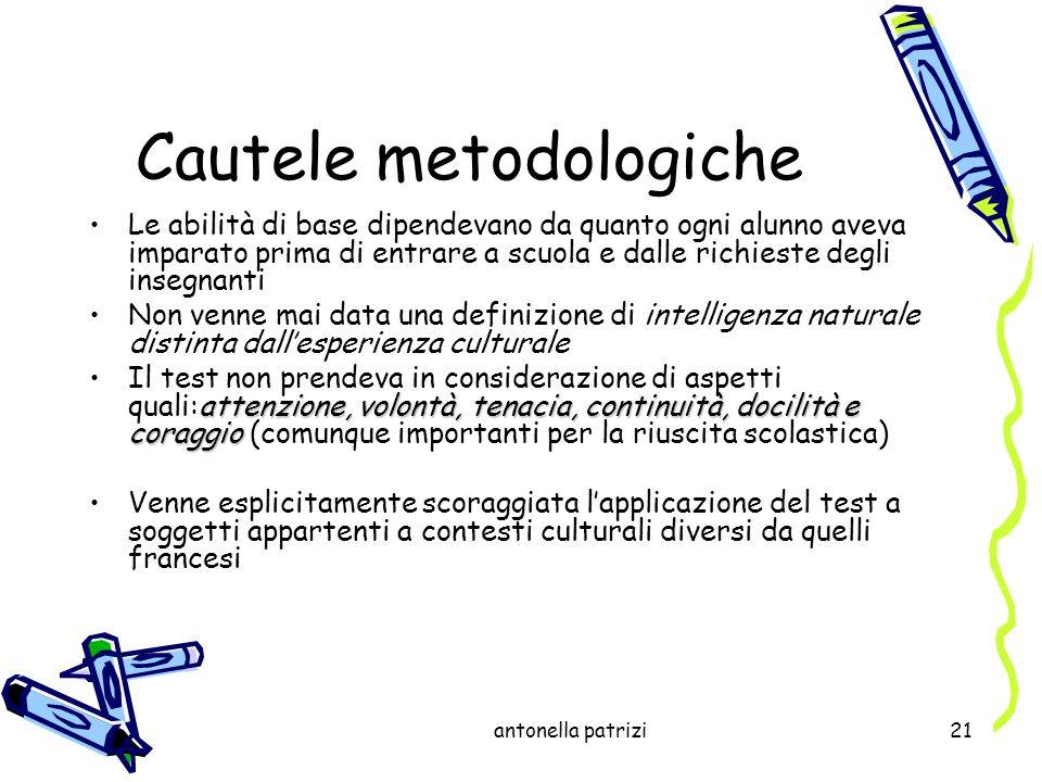 Cautele metodologiche