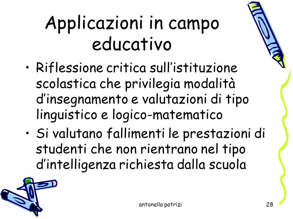 Applicazioni in campo educativo