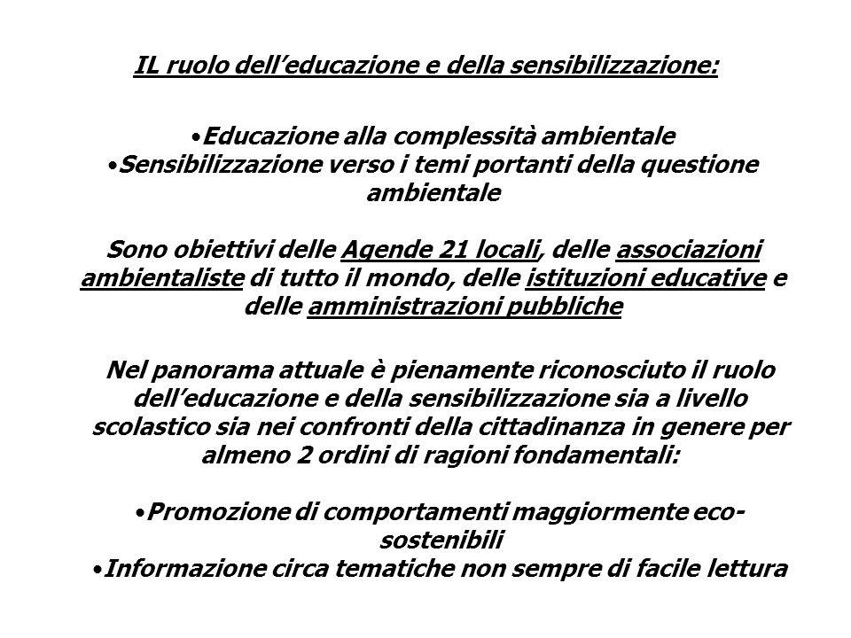 IL ruolo dell'educazione e della sensibilizzazione: