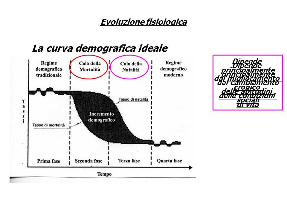 Evoluzione fisiologica La curva demografica ideale