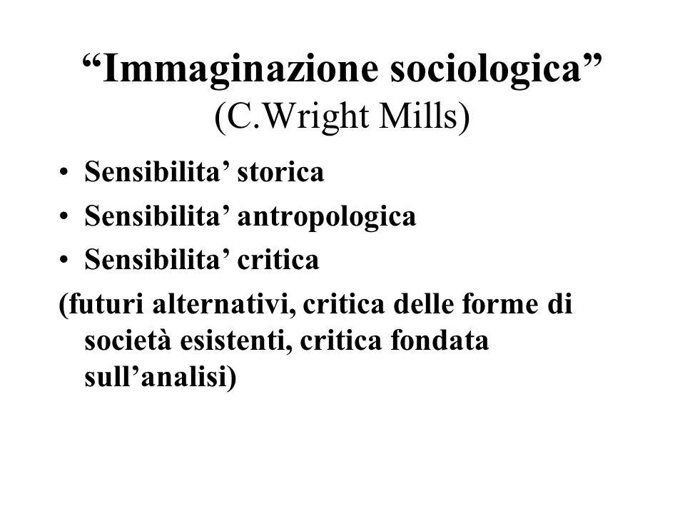 Immaginazione sociologica (C.Wright Mills)