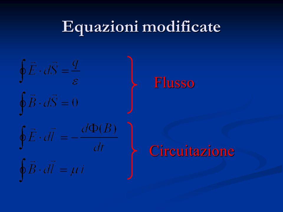 Equazioni modificate Flusso Circuitazione