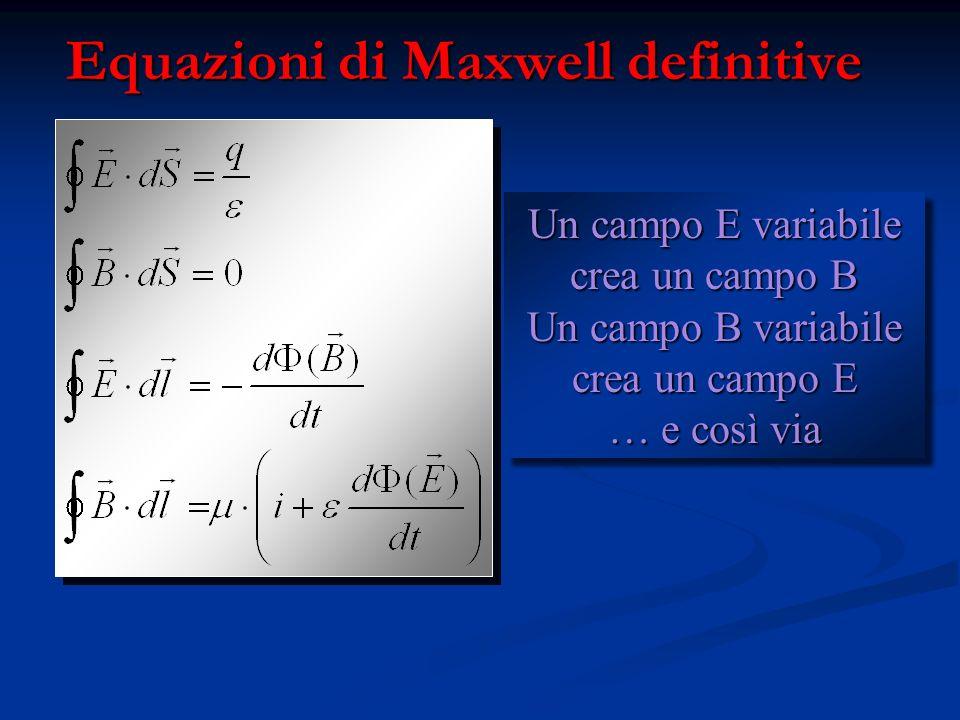 Equazioni di Maxwell definitive