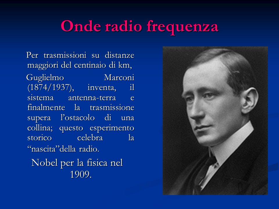 Onde radio frequenza Nobel per la fisica nel 1909.