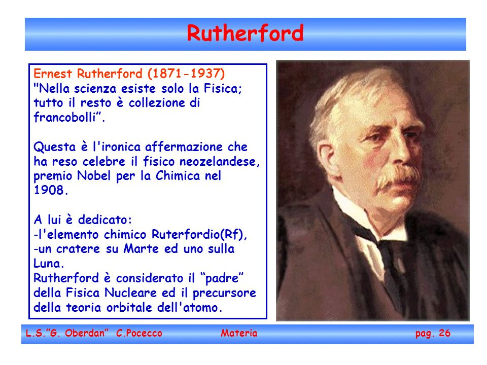 Rutherford Ernest Rutherford (1871-1937)‏