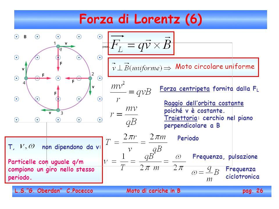Forza di Lorentz (6) Moto circolare uniforme