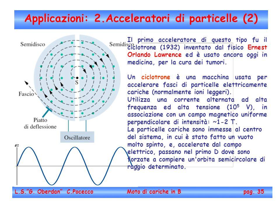 Applicazioni: 2.Acceleratori di particelle (2)