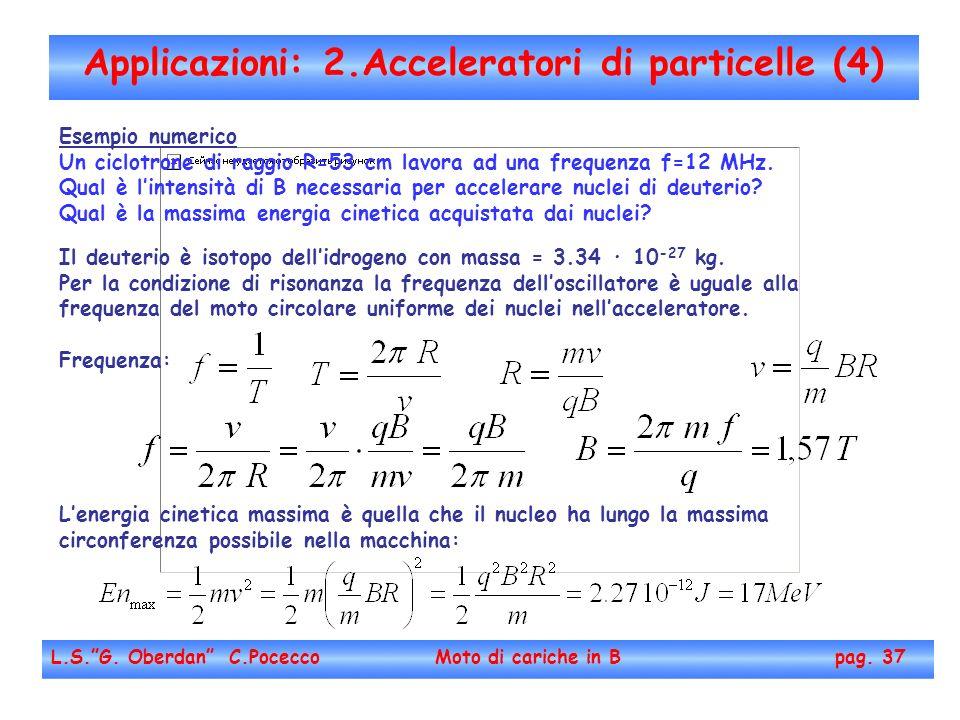 Applicazioni: 2.Acceleratori di particelle (4)