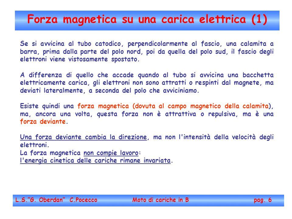 Forza magnetica su una carica elettrica (1)