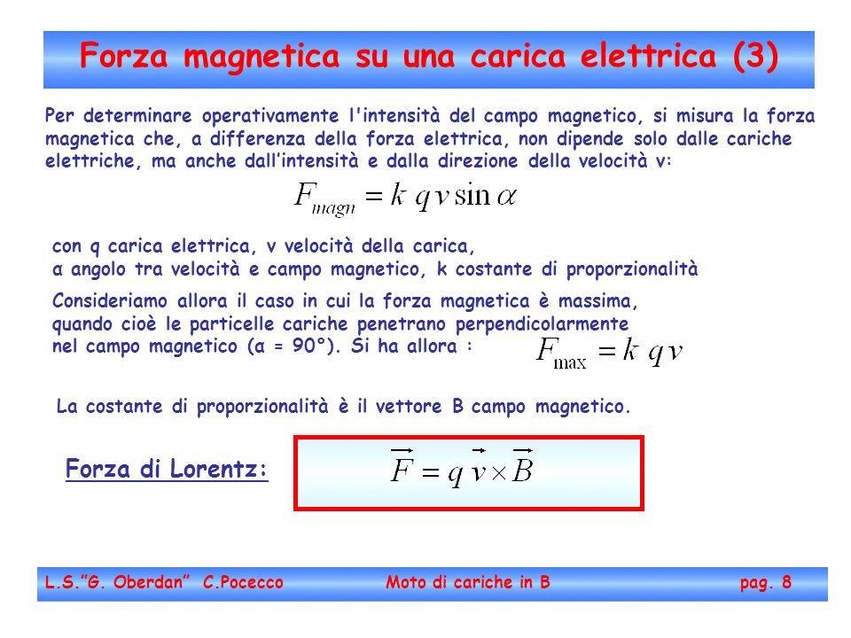Forza magnetica su una carica elettrica (3)