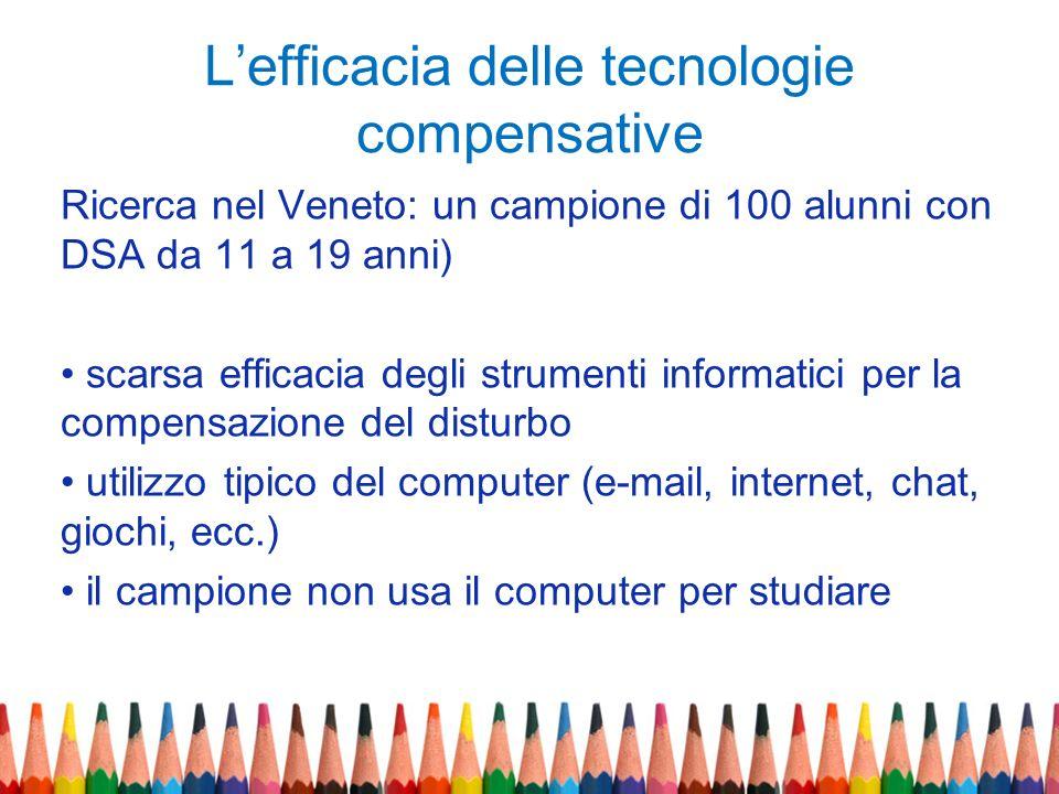 L'efficacia delle tecnologie compensative
