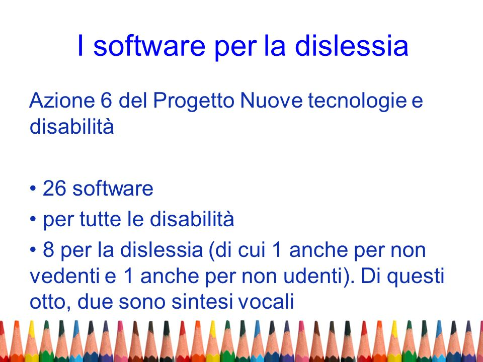 I software per la dislessia