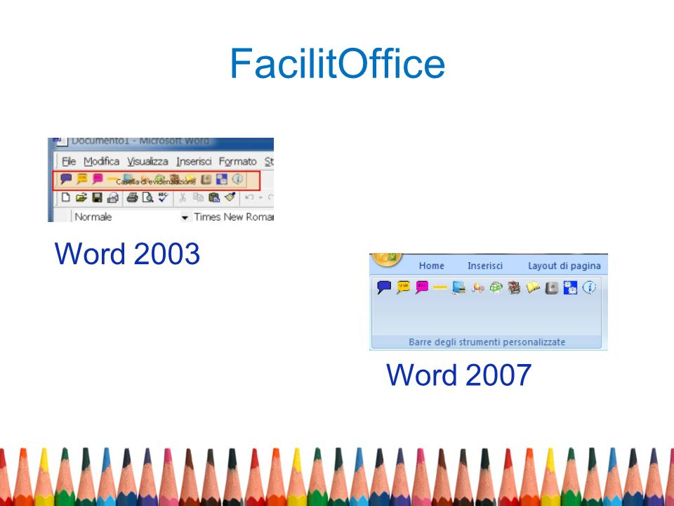 FacilitOffice Word 2003 Word 2007