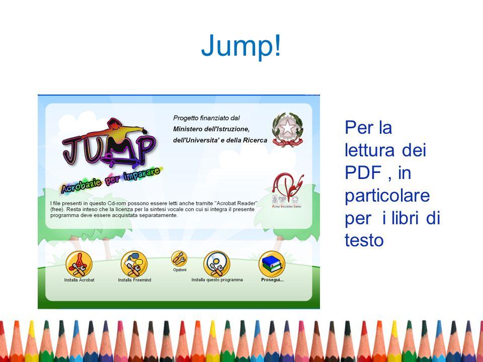 Jump! Per la lettura dei PDF , in particolare per i libri di testo