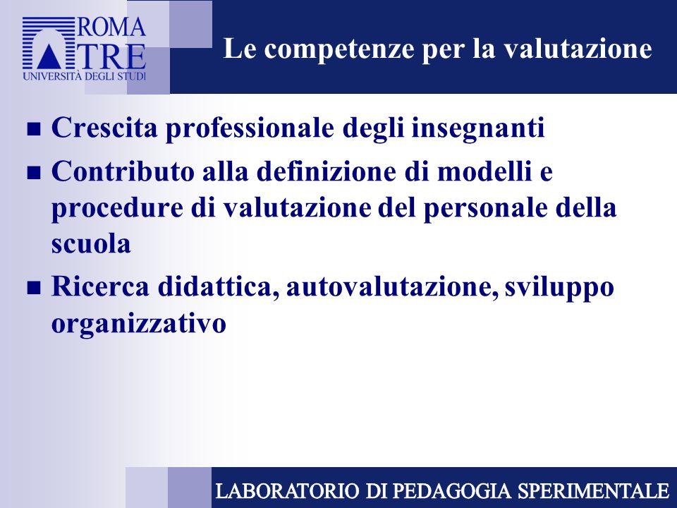 Le competenze per la valutazione