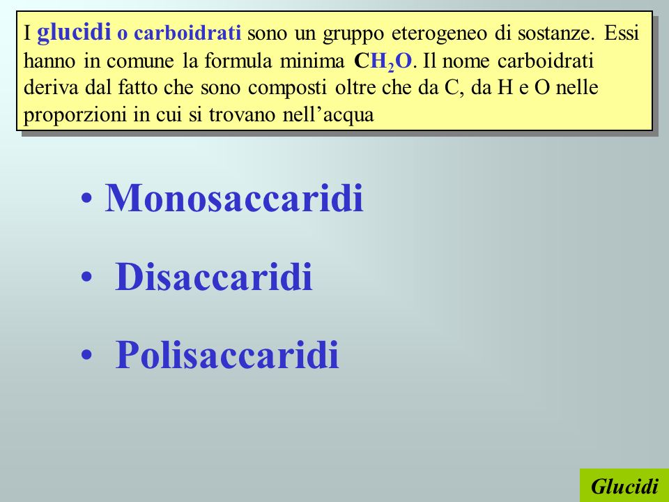 Monosaccaridi Disaccaridi Polisaccaridi