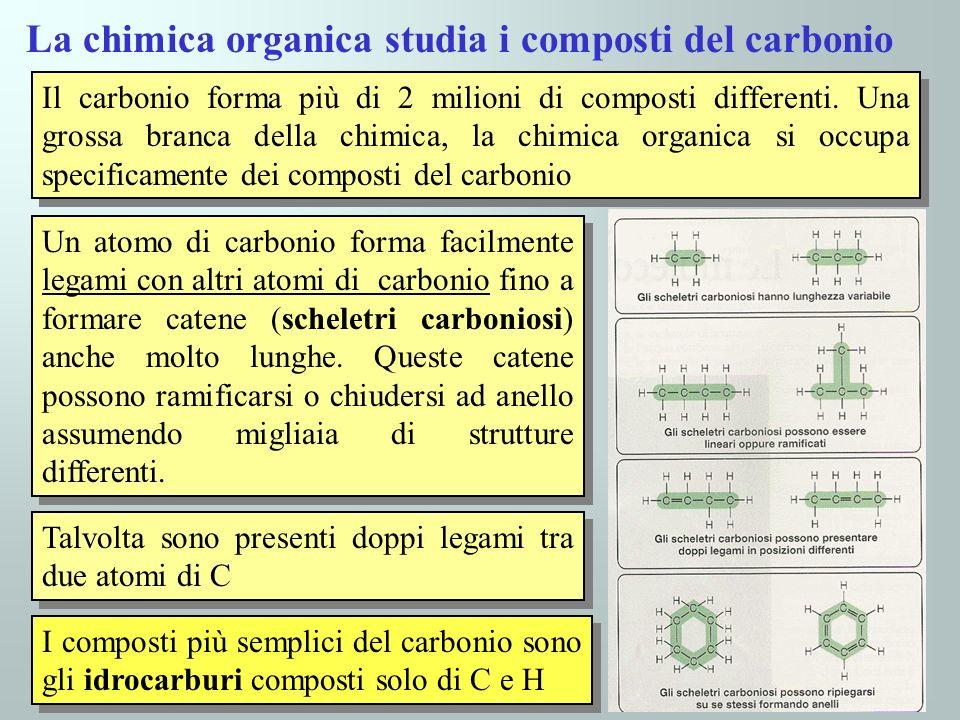 La chimica organica studia i composti del carbonio