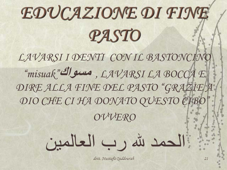 EDUCAZIONE DI FINE PASTO