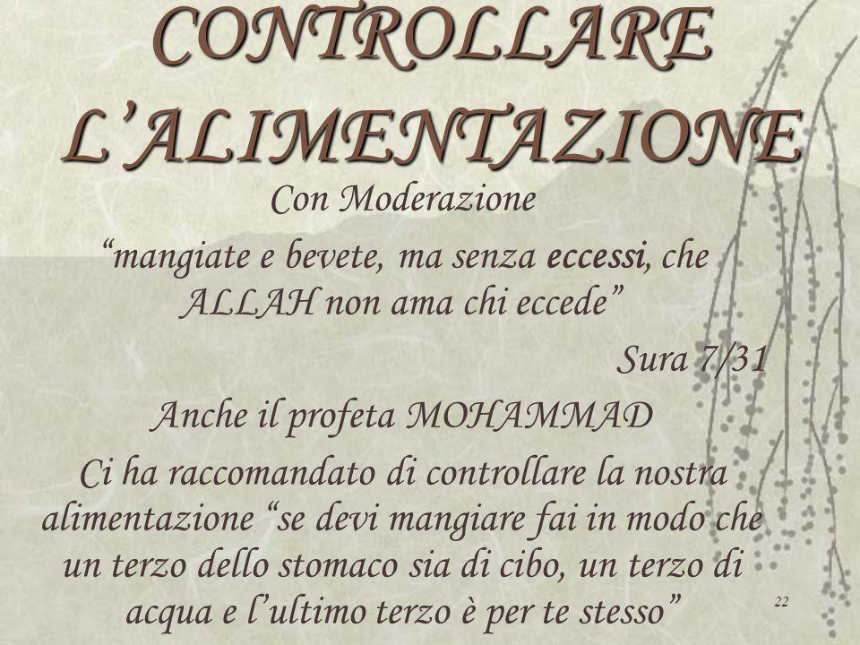 CONTROLLARE L'ALIMENTAZIONE