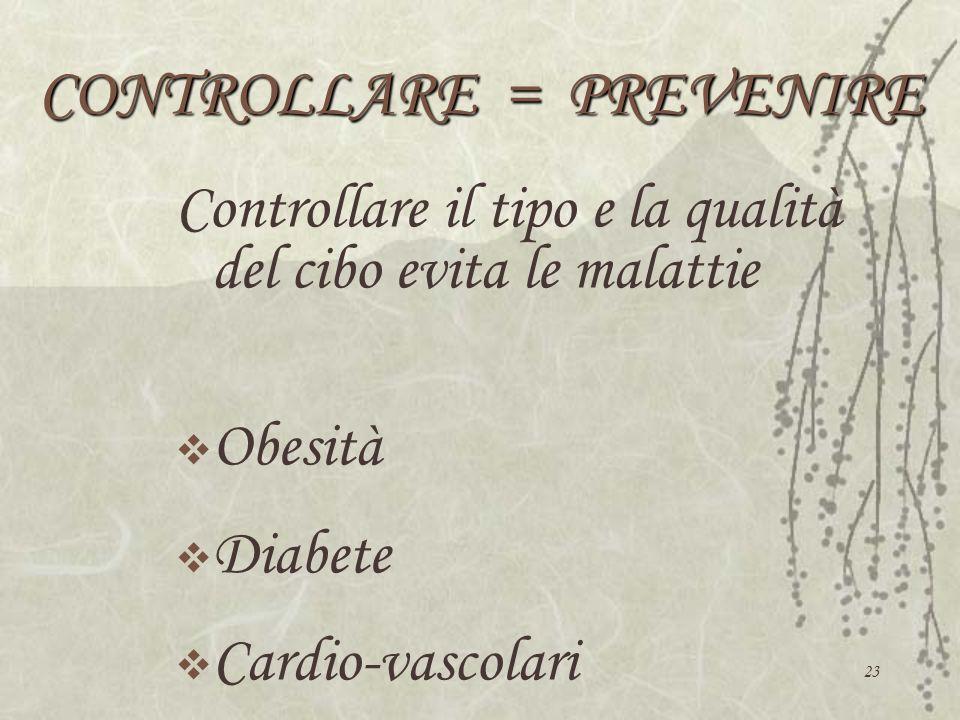 CONTROLLARE = PREVENIRE