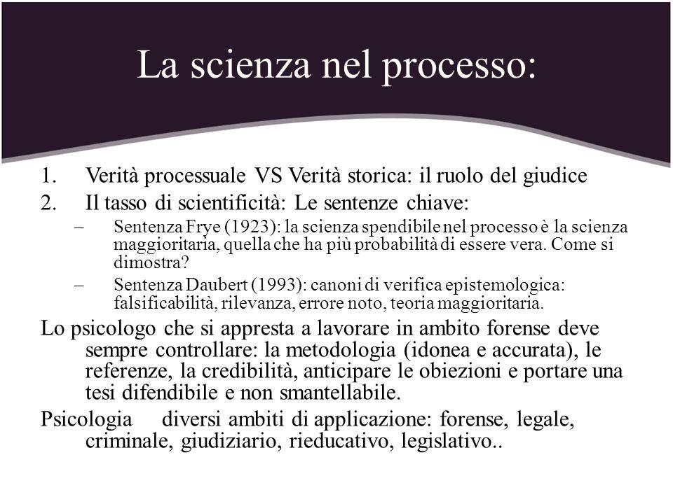 La scienza nel processo: