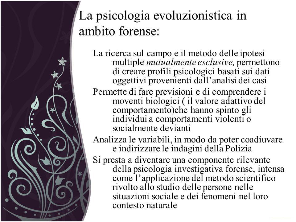 La psicologia evoluzionistica in ambito forense: