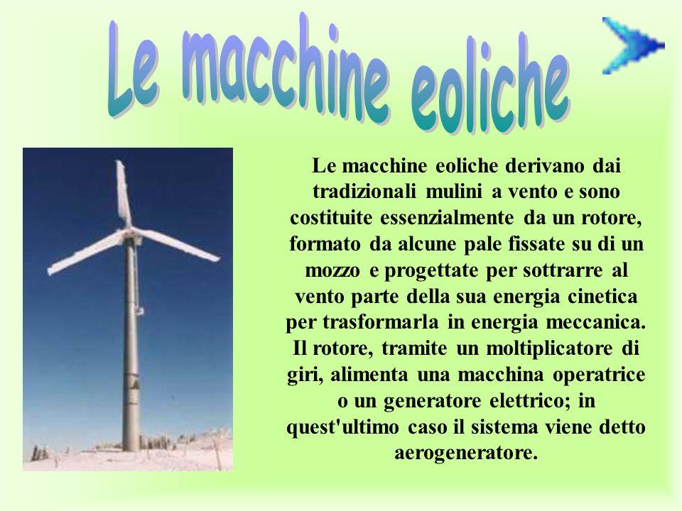Le macchine eoliche
