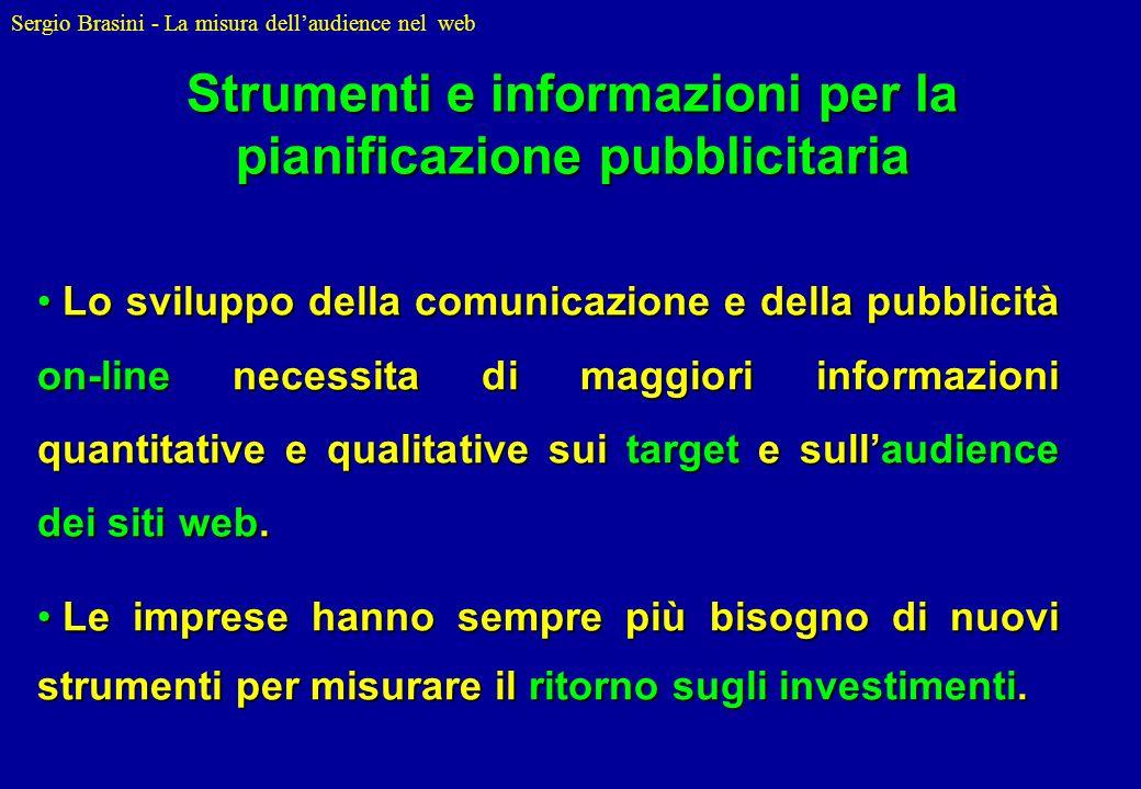 Strumenti e informazioni per la pianificazione pubblicitaria