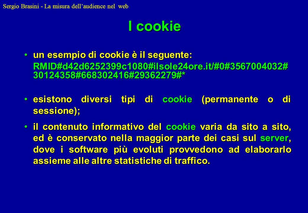 I cookie un esempio di cookie è il seguente: