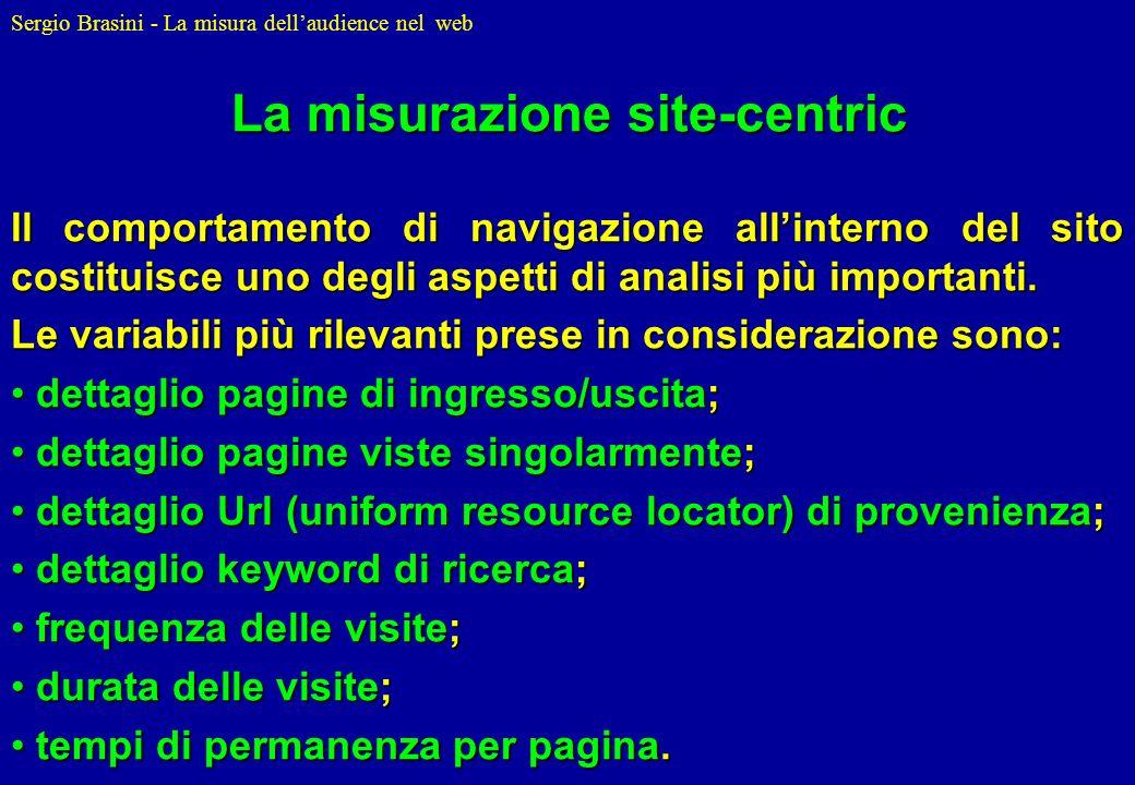 La misurazione site-centric