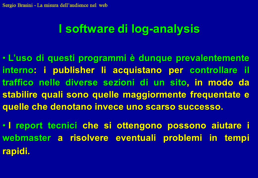 I software di log-analysis