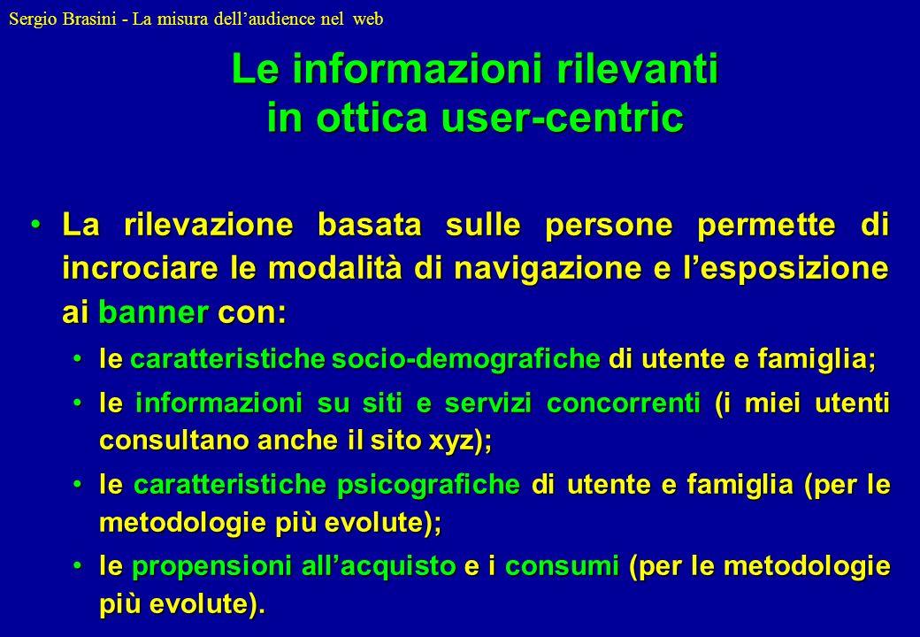Le informazioni rilevanti in ottica user-centric