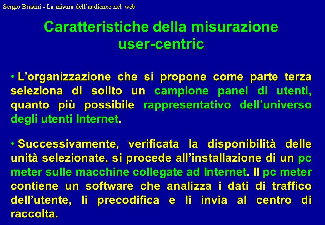Caratteristiche della misurazione user-centric
