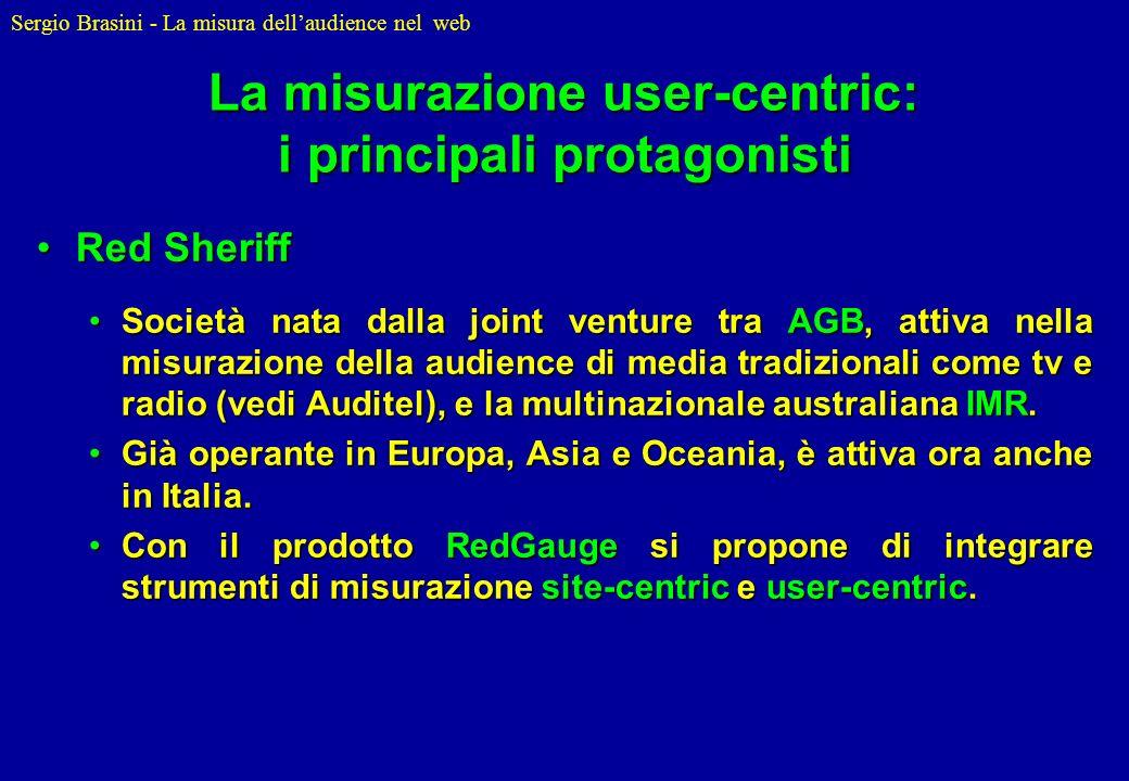 La misurazione user-centric: i principali protagonisti