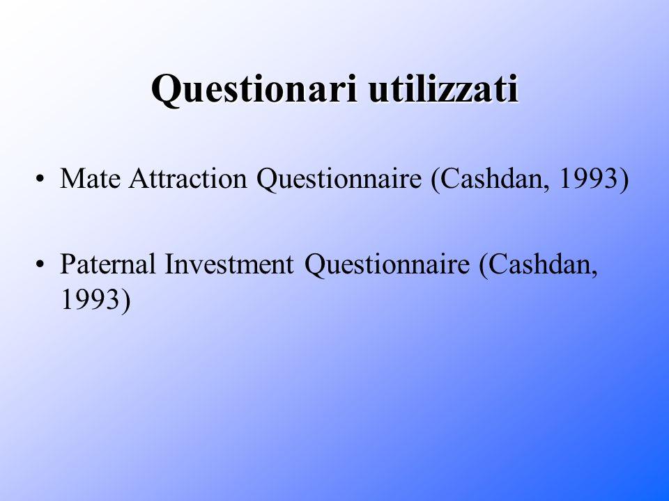 Questionari utilizzati