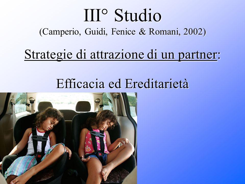III° Studio (Camperio, Guidi, Fenice & Romani, 2002)