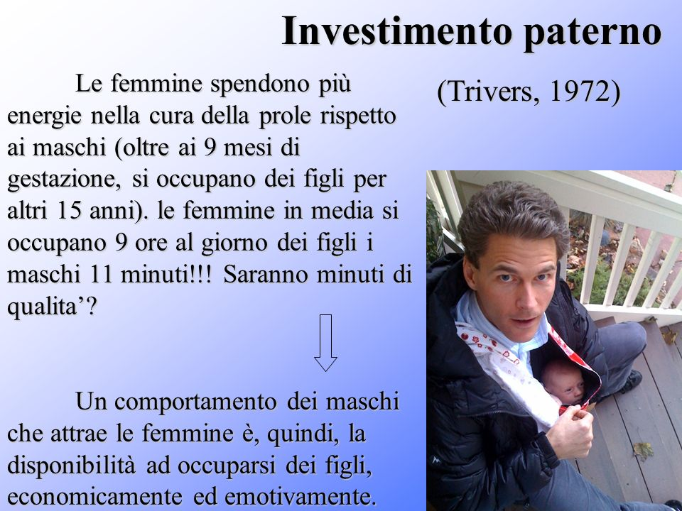 Investimento paterno (Trivers, 1972)