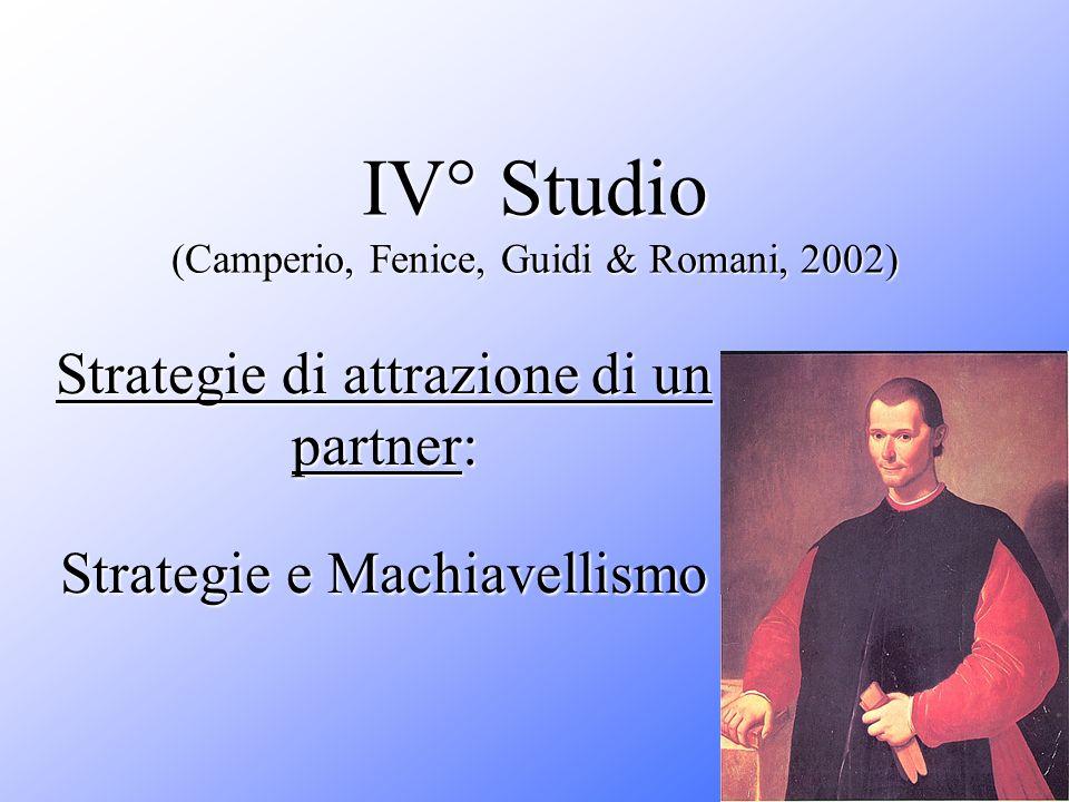 IV° Studio (Camperio, Fenice, Guidi & Romani, 2002)