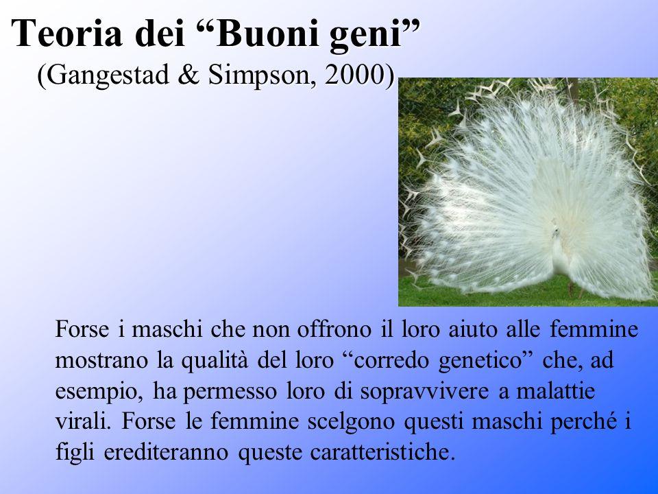Teoria dei Buoni geni (Gangestad & Simpson, 2000)