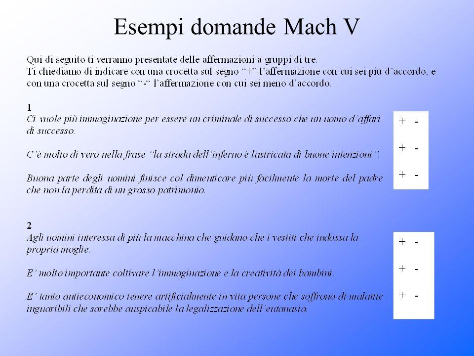 Esempi domande Mach V