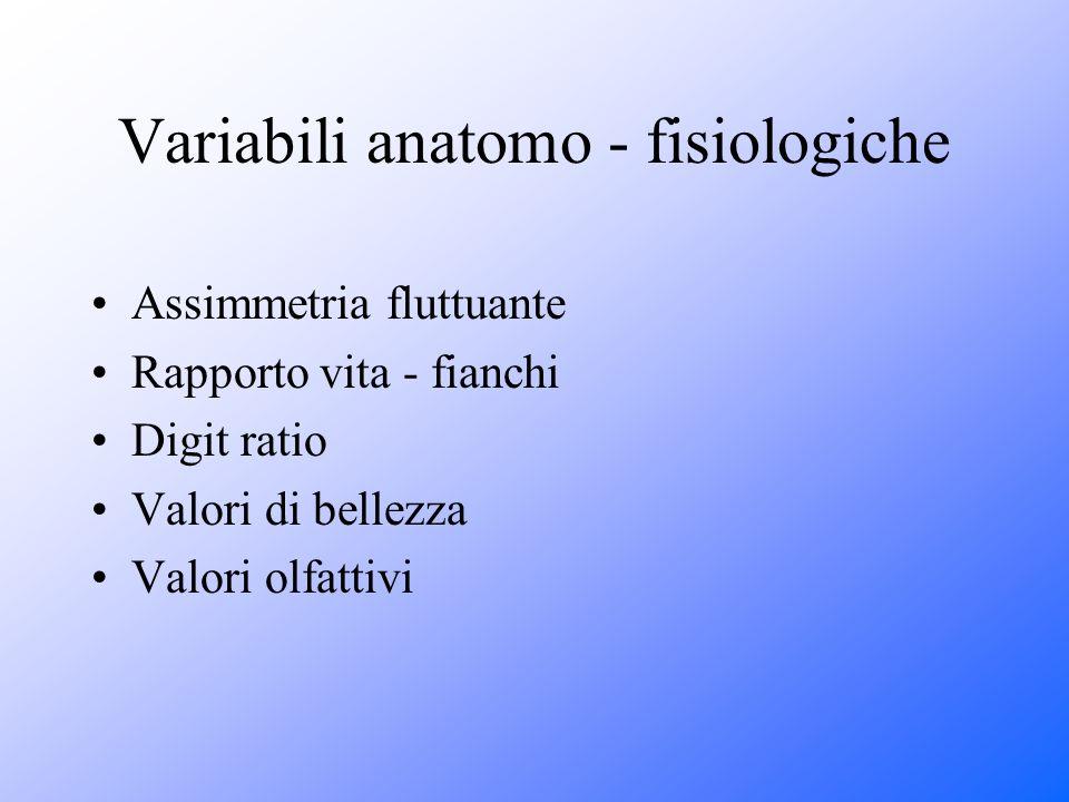 Variabili anatomo - fisiologiche