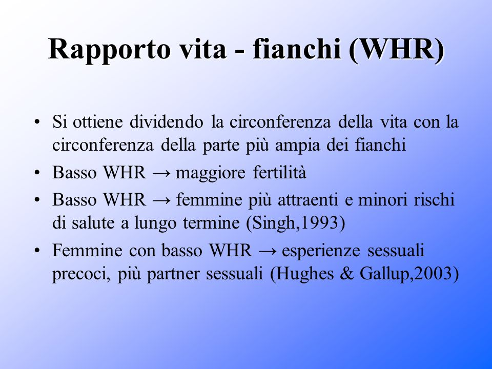 Rapporto vita - fianchi (WHR)