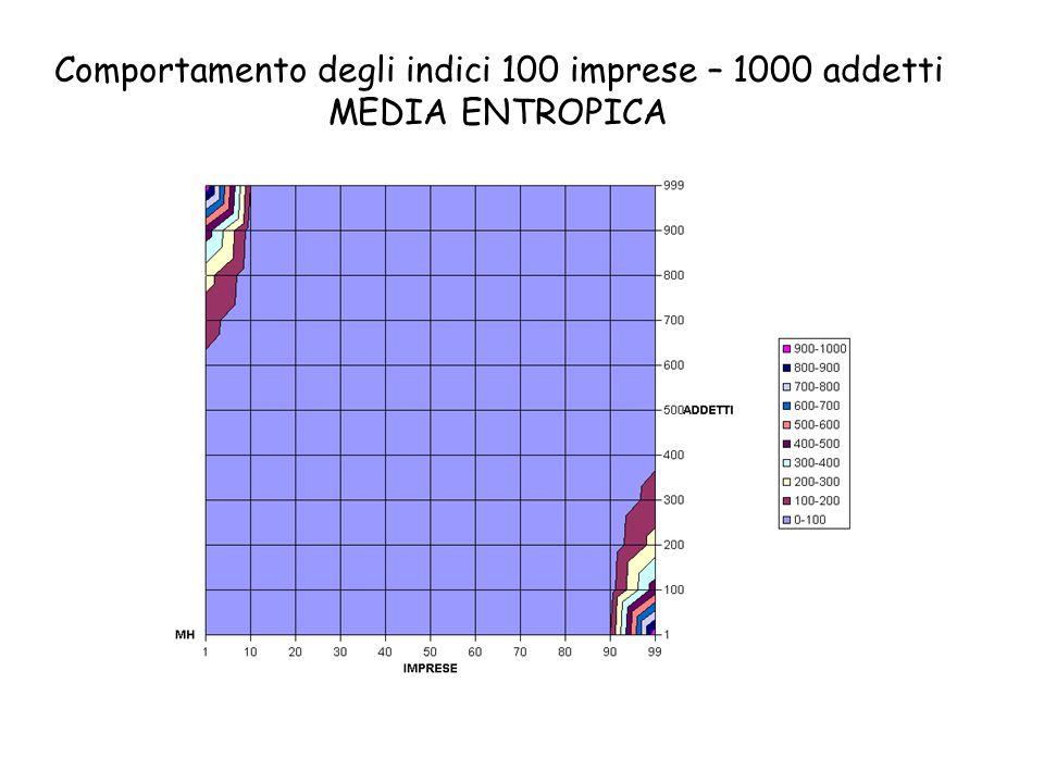 Comportamento degli indici 100 imprese – 1000 addetti