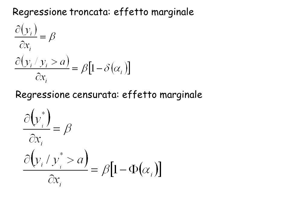 Regressione troncata: effetto marginale