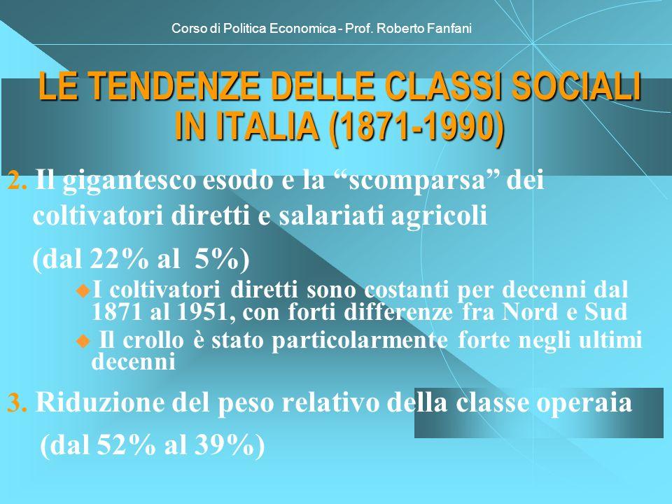 LE TENDENZE DELLE CLASSI SOCIALI IN ITALIA (1871-1990)