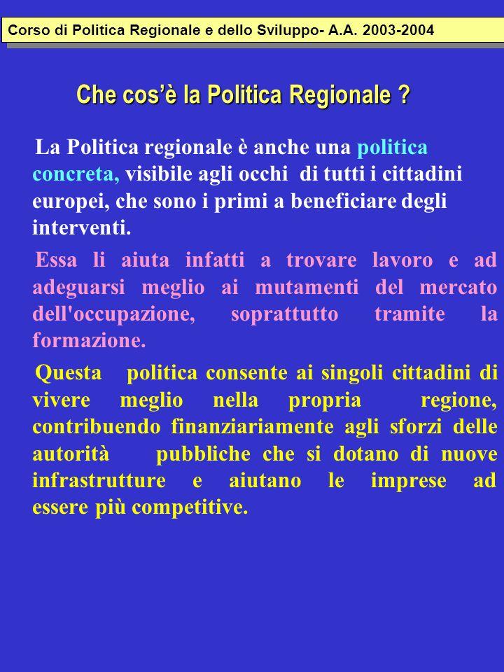 Che cos'è la Politica Regionale