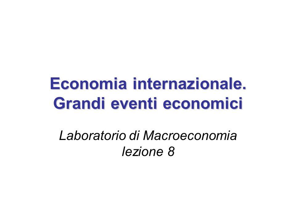 Economia internazionale. Grandi eventi economici